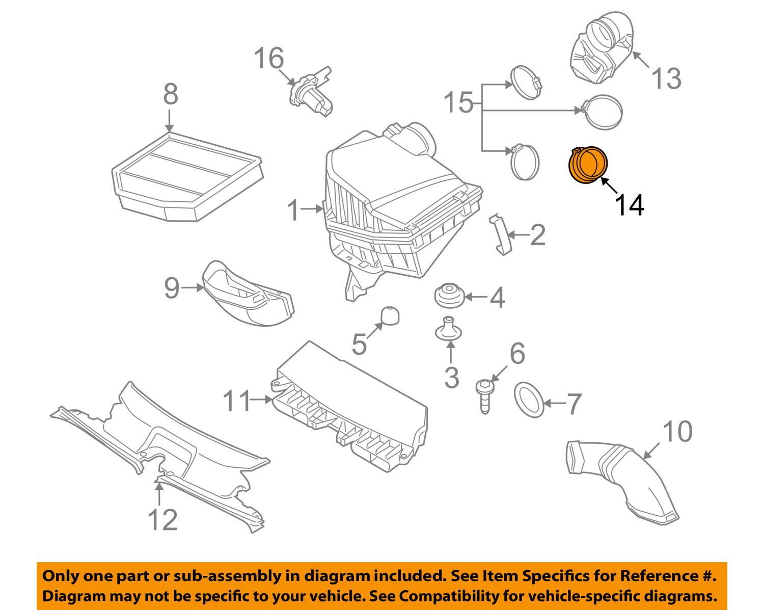 Bmw X3 30l Engine Diagram Trusted Wiring Diagrams L6 Oem 07 10 3 0l Air Cleaner Intake Boot Hose Duct Tube 528i