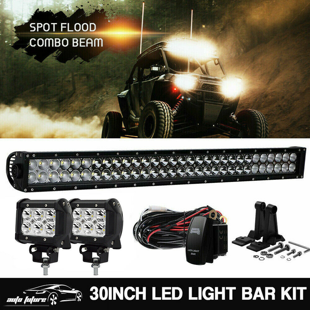 Led 30 Inch Straight Light Bar Wiring Kit For Polaris Rzr 900 900s 1 Of 8free Shipping