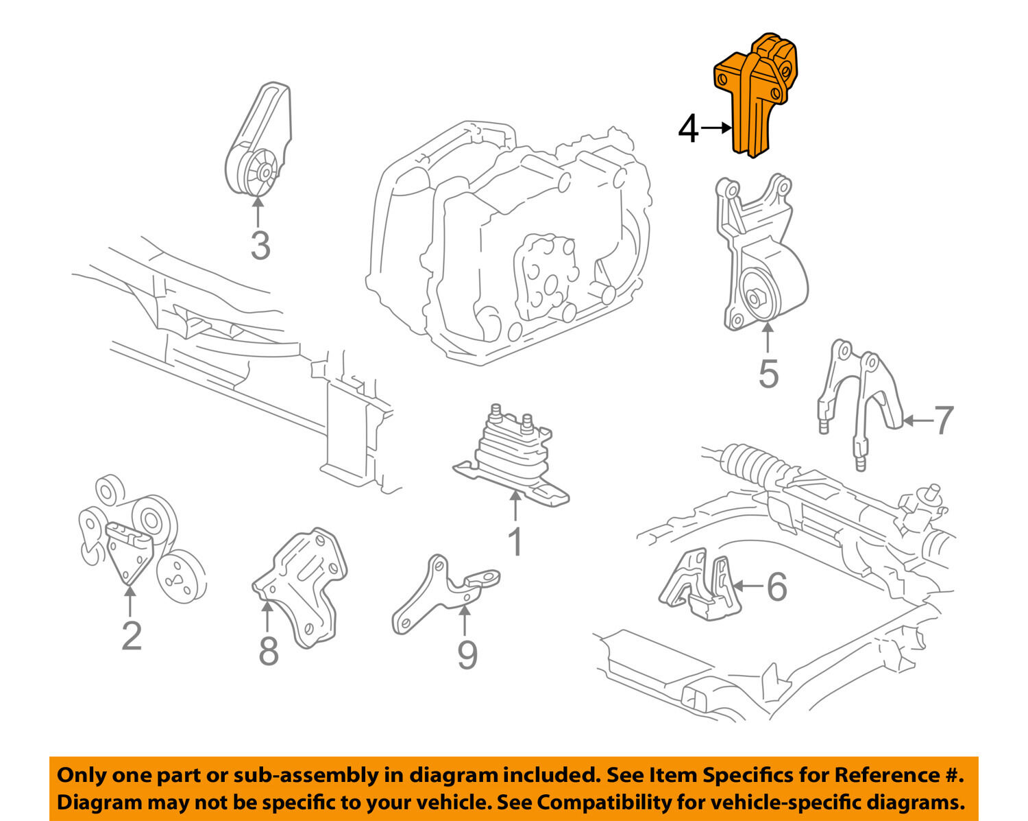 ... Motor Transmission-Transmission Mount 22624648 1 of 2Only 0 available  ...