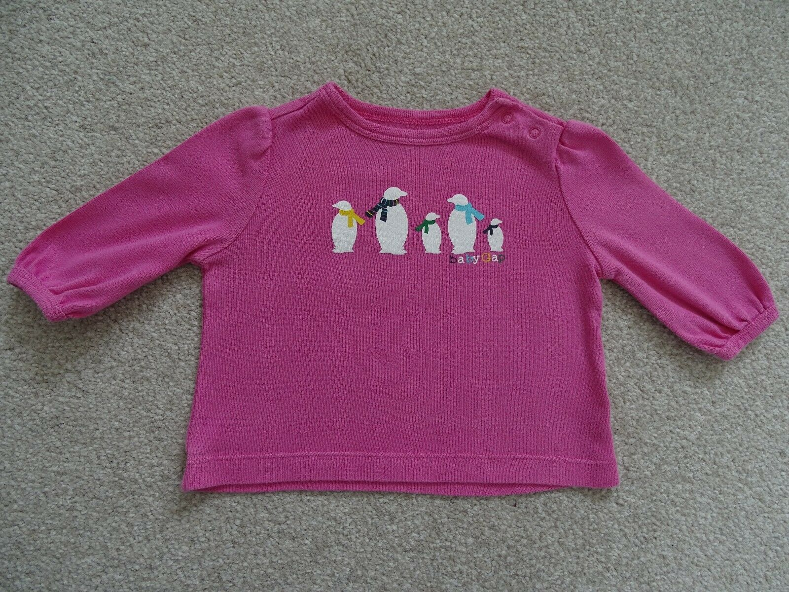 Girl 39 s baby gap long sleeved t shirt age 0 3 months 0 for Gap usa t shirt