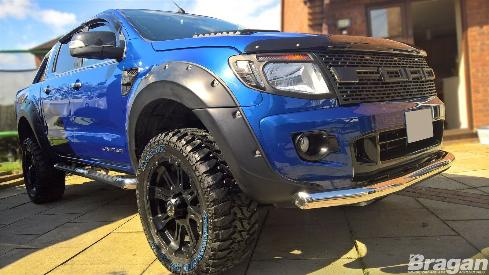 to fit 2016 ford ranger t6 stainless steel front bumper. Black Bedroom Furniture Sets. Home Design Ideas