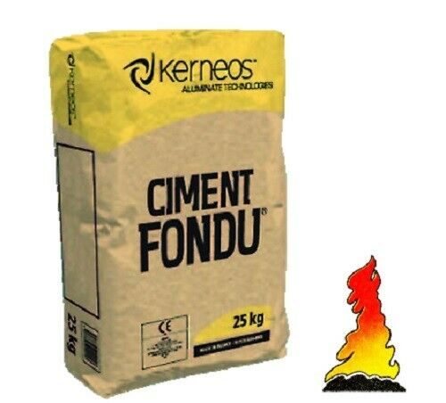 ciment fondu 25kg refractory fire cement kiln stove furnace pizza oven. Black Bedroom Furniture Sets. Home Design Ideas