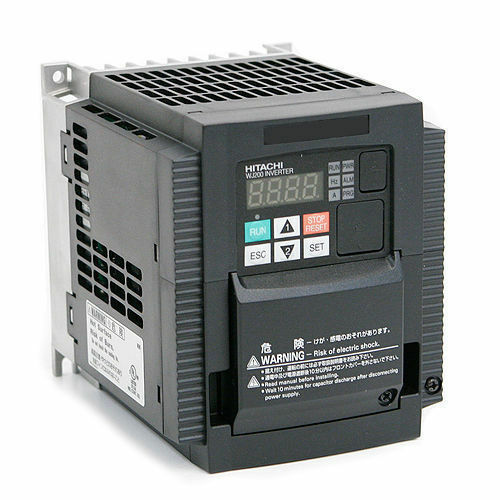 Hitachi wj200 015sf variable frequency drive 2 hp 230 for 3 phase vfd single phase motor