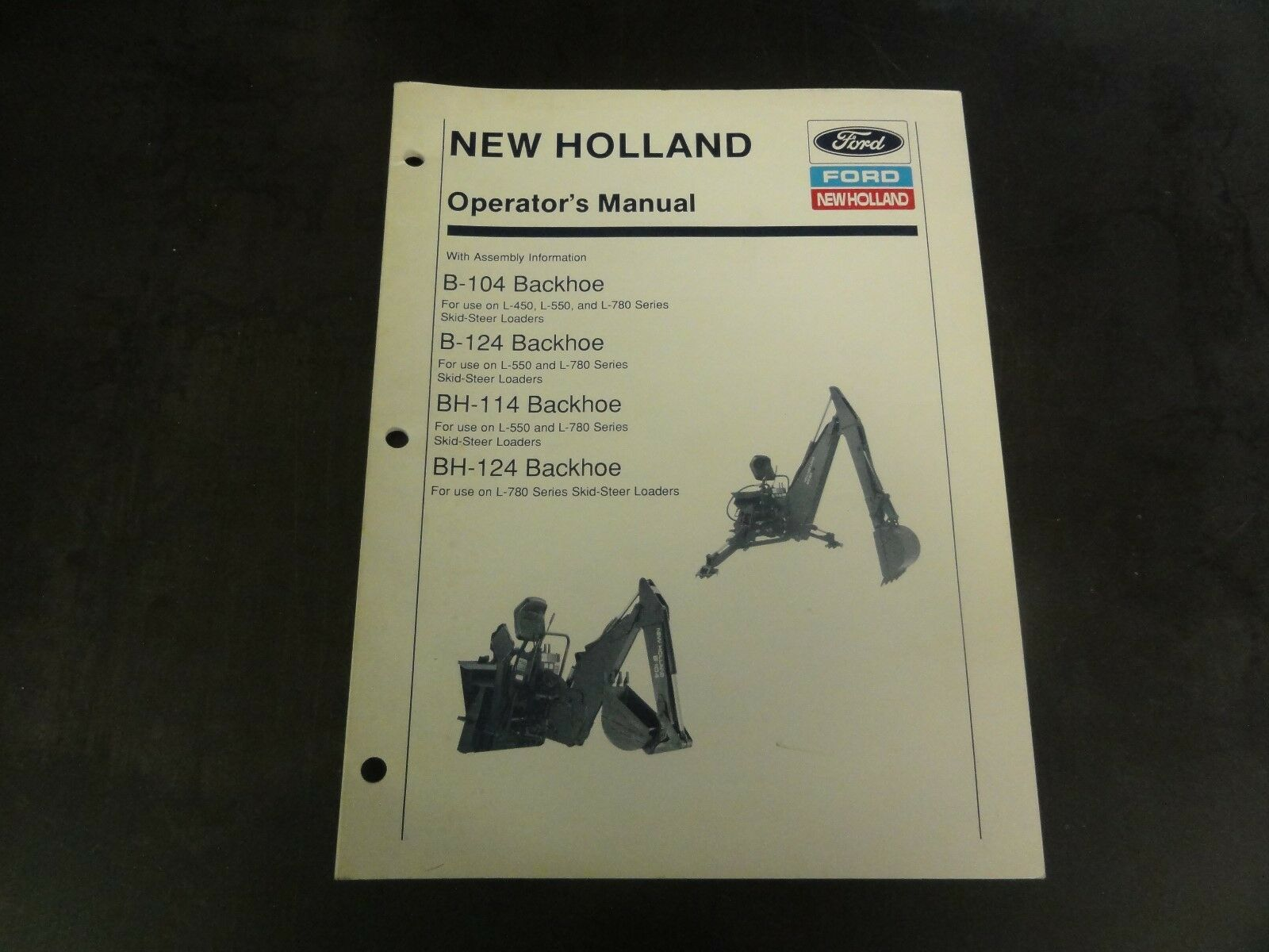 New Holland Ford B Backhoe B Backhoe Bh on 1978 Ford 555 Backhoe Wiring Diagram
