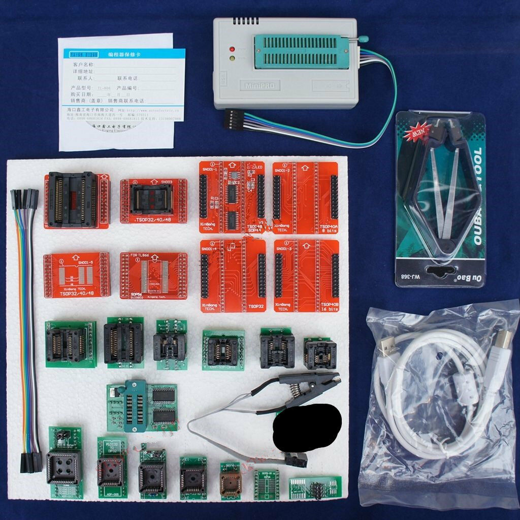 Tl866a Usb Minipro Programmer Eeprom Flash Avr Mcu Pic Icsp Spi In 3m Small Outline Integrated Circuit Test Clips Sotc8 1 Of See More