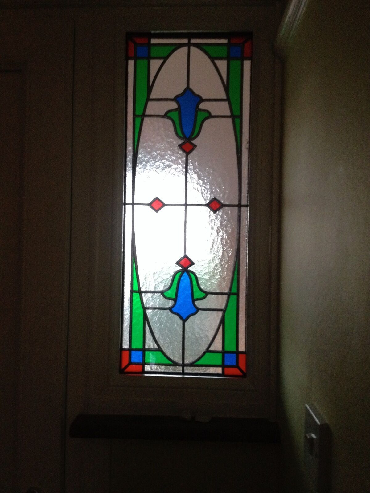2 double glazed stained glass panels picclick uk for Double glazed glass panels