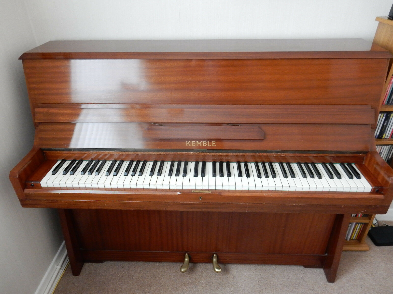 Kemble upright piano good codition nice tone modern for Small piano dimensions