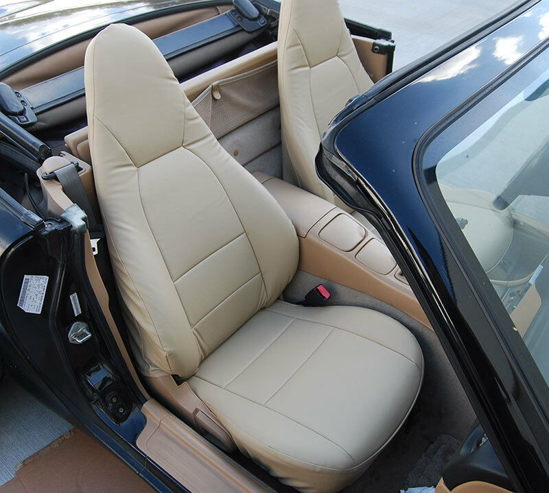 Mazda Miata 2001 2005 Beige S.leather Custom Made Fit Front Seat Cover 1 Of  5FREE Shipping Mazda Miata ...