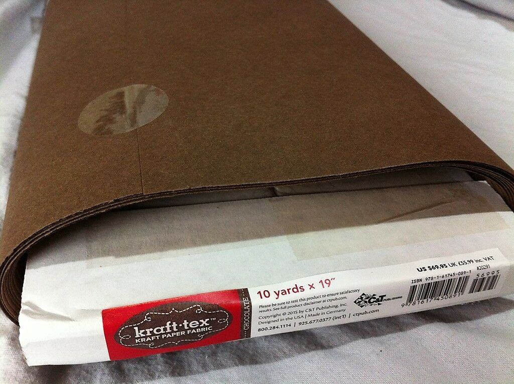 Kraft-Tex (Chocolate) - Made from paper, looks like leather, washes like fabric