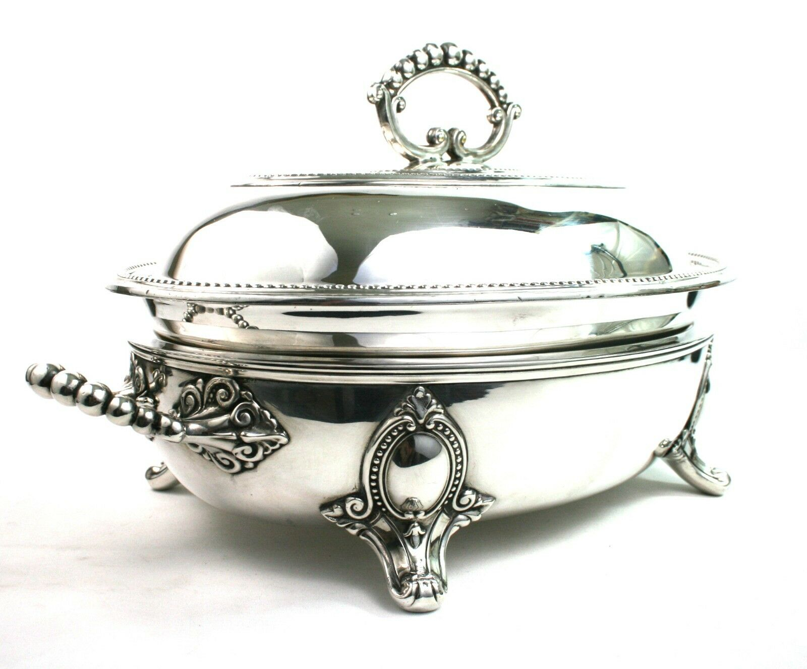 Antique Silver Plated Entree Dish Tureen & Food Warmer ...