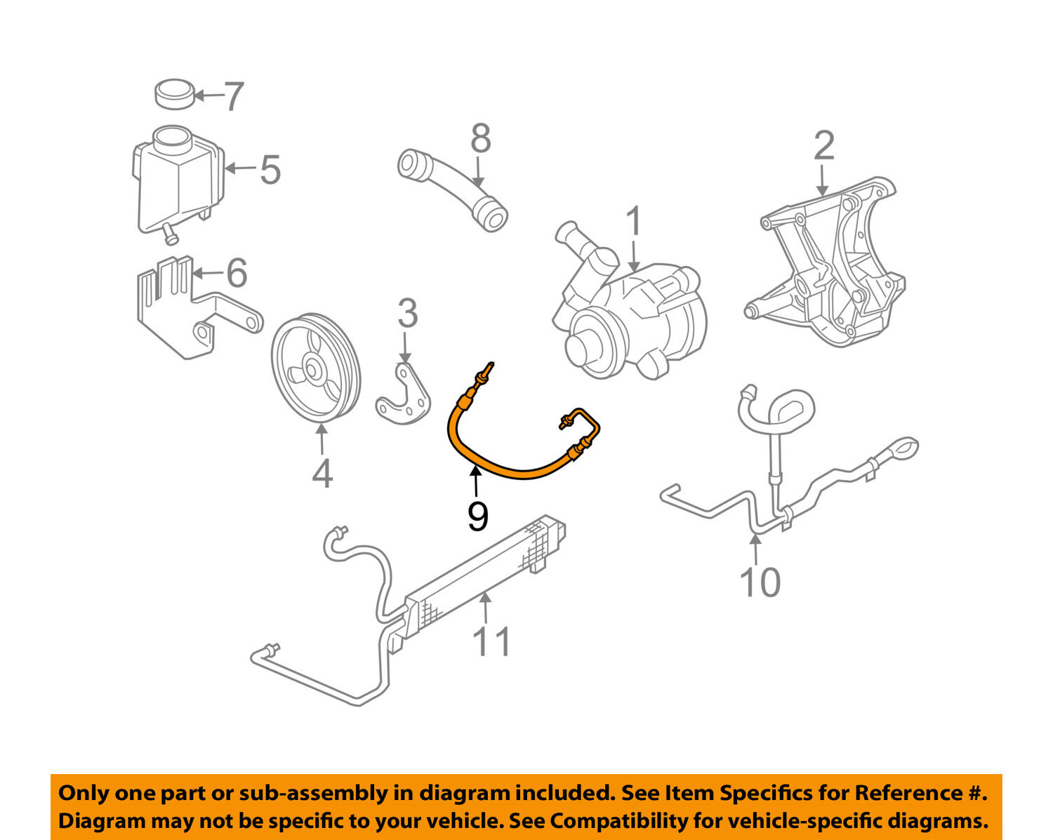 Chevrolet Gm Oem 05 07 Corvette Power Steering Pressure Hose 2007 Z06 Wiring Diagrams For Dummies 1 Of 2only 2 Available