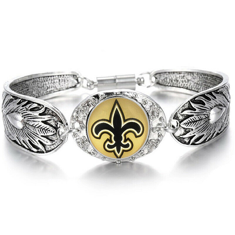New Orleans Saints Women S Sterling Silver Bracelet Football Gift Giftpkg D3 1 Of 5free Shipping
