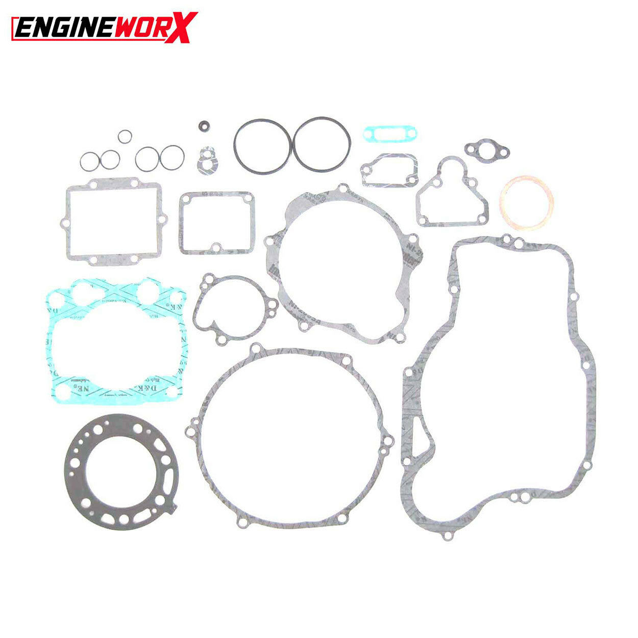 New Kawasaki Kx 250 04 Engineworx Full Engine Gasket Kit Set Kx250 Wiring Harness Complete Motocross 1 Of 1only Available