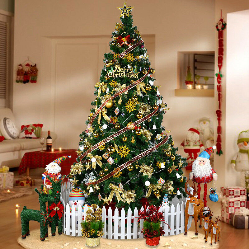 Christmas Decorations And Trees Uk : Traditional christmas green tree ft xmas artificial