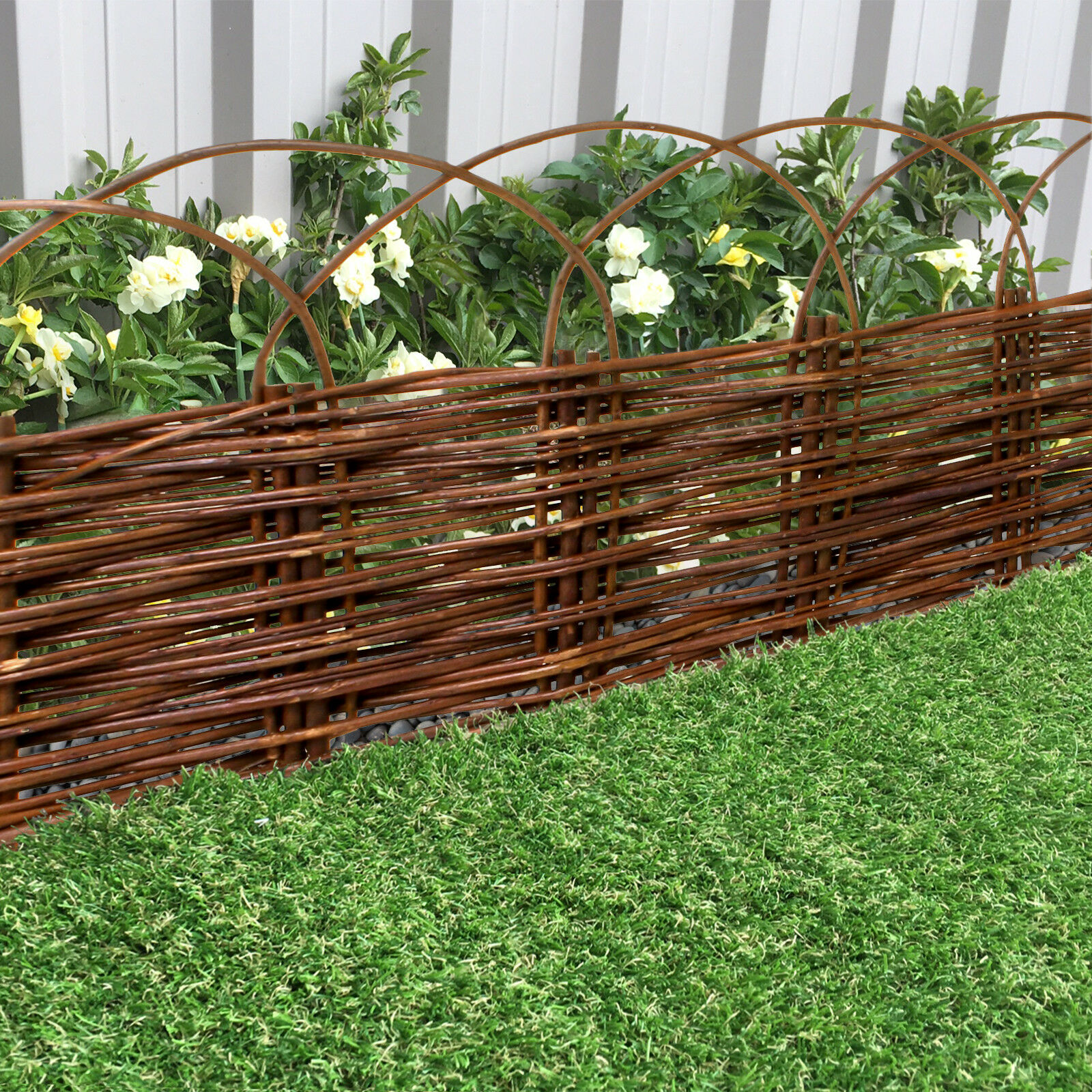 Garden Willow Lawn Edging 1M Arched Panel Flower Bed Border Hurdle Pathway  Drive 1 Of 2Only 0 Available ...