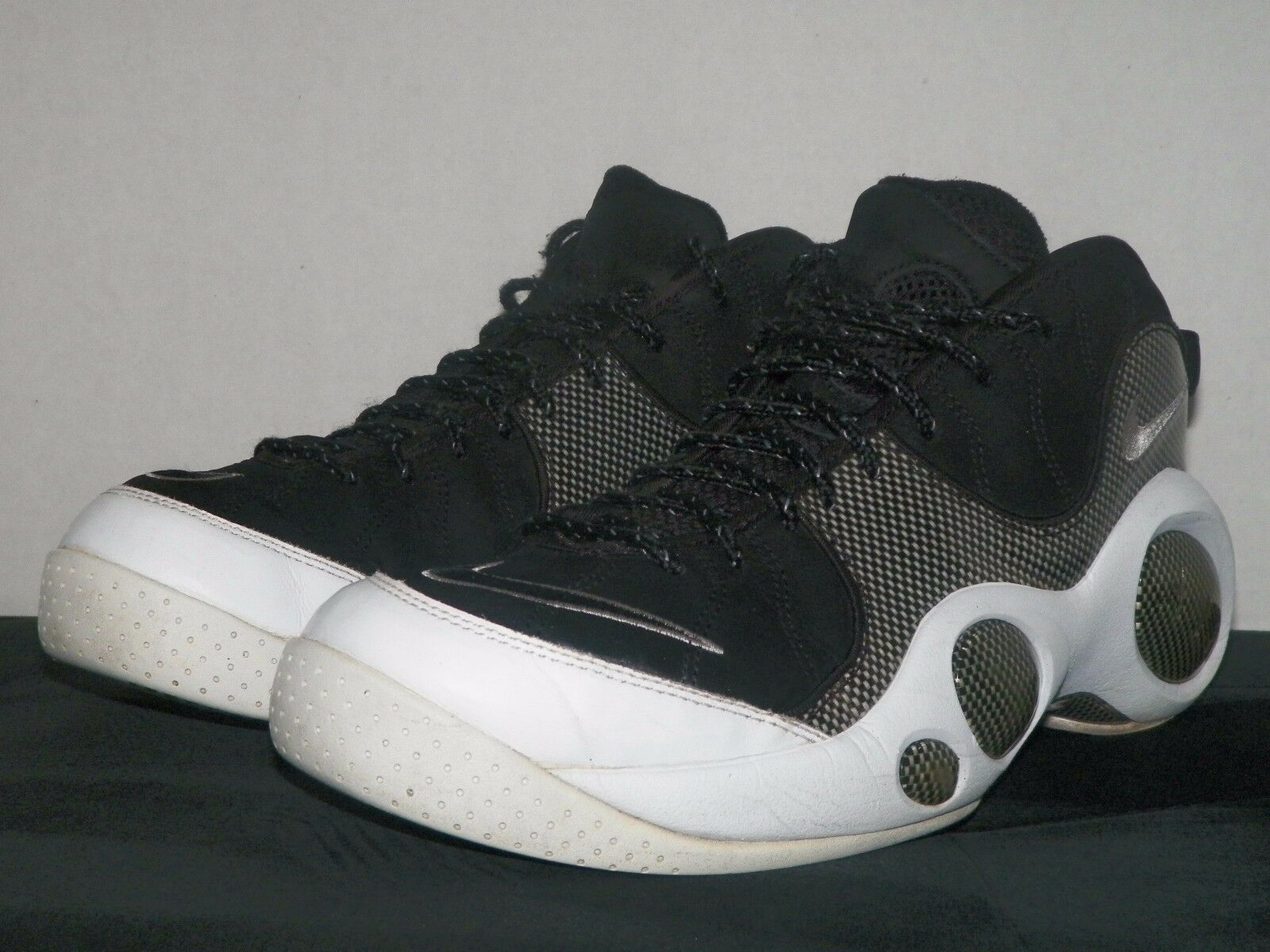 fa7afb66d55 2007 Nike Air Zoom Flight 95 - Size 10.5 - Black - White - Jason Kidd 1 of  9Only 1 available ...