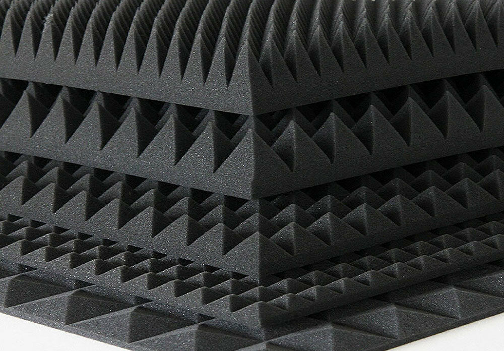 pyramidenschaumstoff schaumstoff akustik musik tonstudio absorber varianten eur 70 00. Black Bedroom Furniture Sets. Home Design Ideas