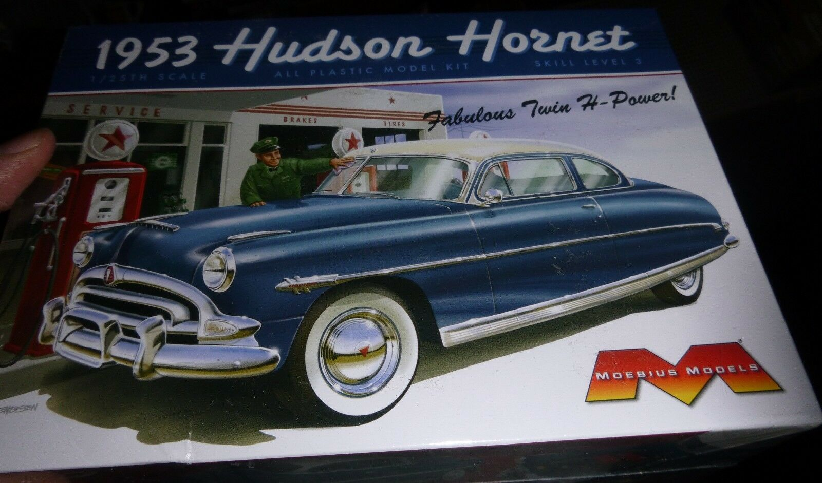 Moebius 1200 1953 Hudson Hornet Coupe Model Car Mountain Kit 1 25 Fs 1941 Oldsmobile Club Of 2only Available