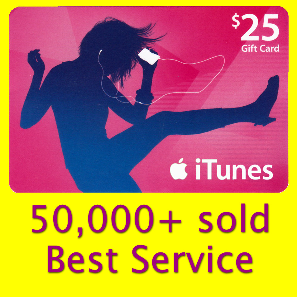 25 Apple Us Itunes Gift Card Voucher Certificate Fast Usa 50 Store 1 Of 1free Shipping See More