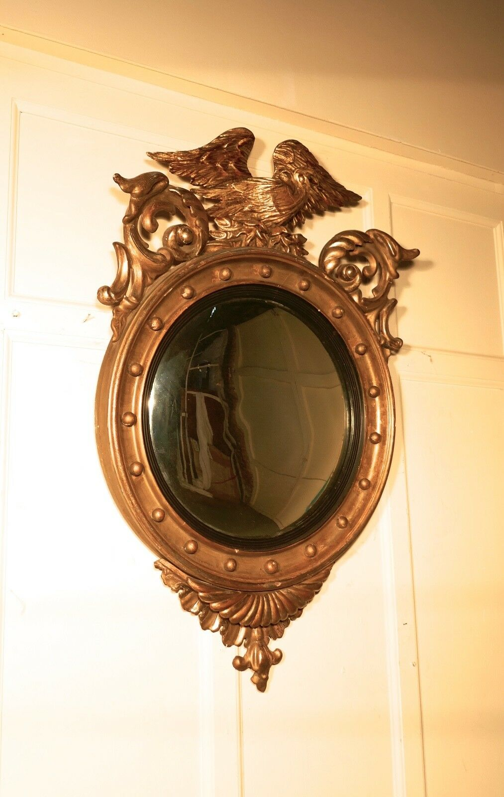 A large regency convex gilt wall mirror 1 for What is a gilt mirror
