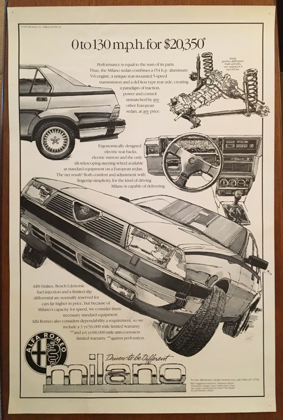 Vintage Alfa Romeo Milano Original Dealer Poster 17500 Picclick Rear Axle 1 Of 2only Available
