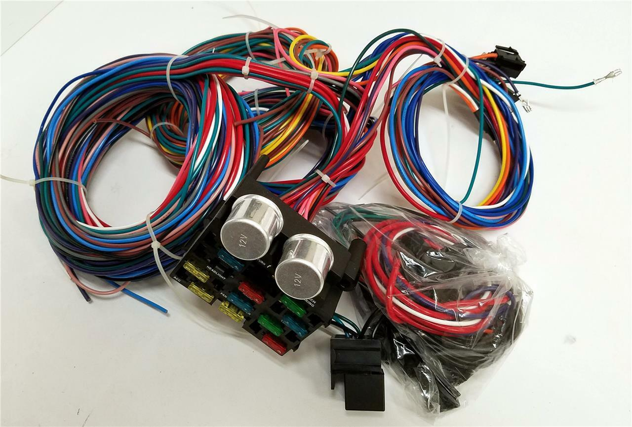 12 Circuit Wiring Harness Wire Kit Street Rod Hot Universal Bendix 1 Of 1only 0 Available