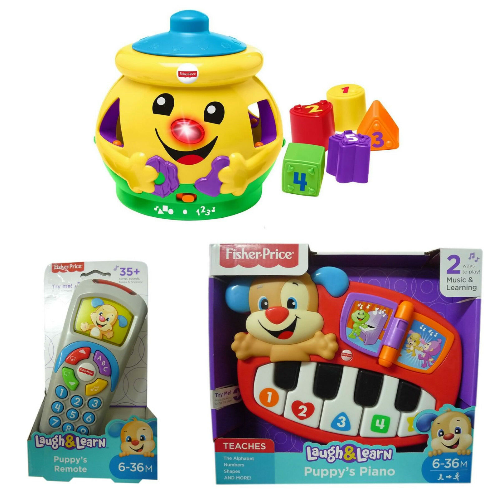 Fisher Price Toy Selection Thomas Chatter Phone Clock Puppy Piano Story Book 1 Sur 9 Voir Plus