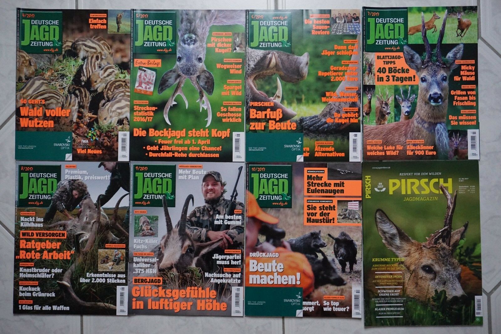 8 zeitschriften deutsche jagd zeitung pirsch sammlung 2017 djz jagdmagazin jagd picclick de. Black Bedroom Furniture Sets. Home Design Ideas