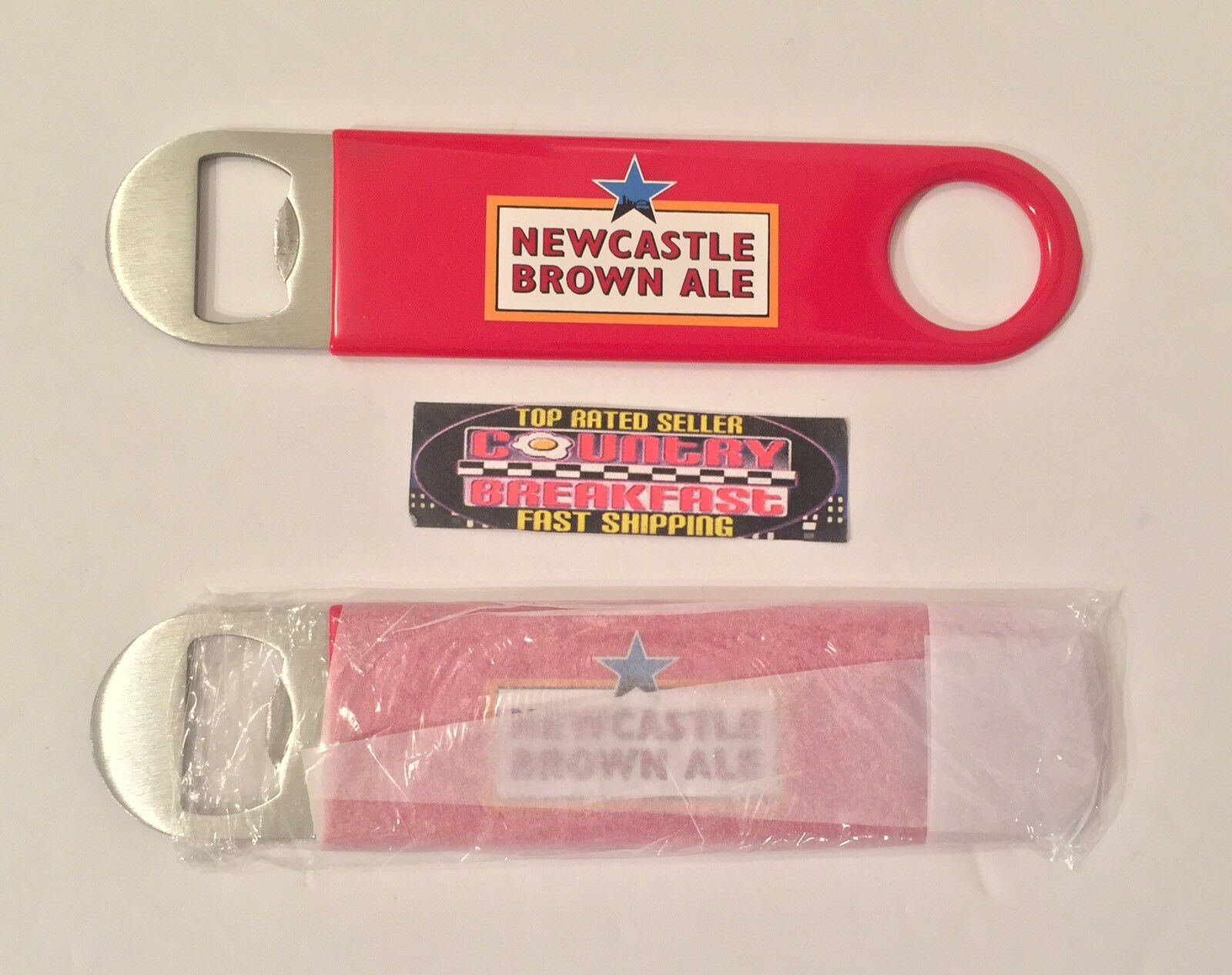 NEWCASTLE BROWN ALE Bartenders Style Paddle Bottle Opener 7\