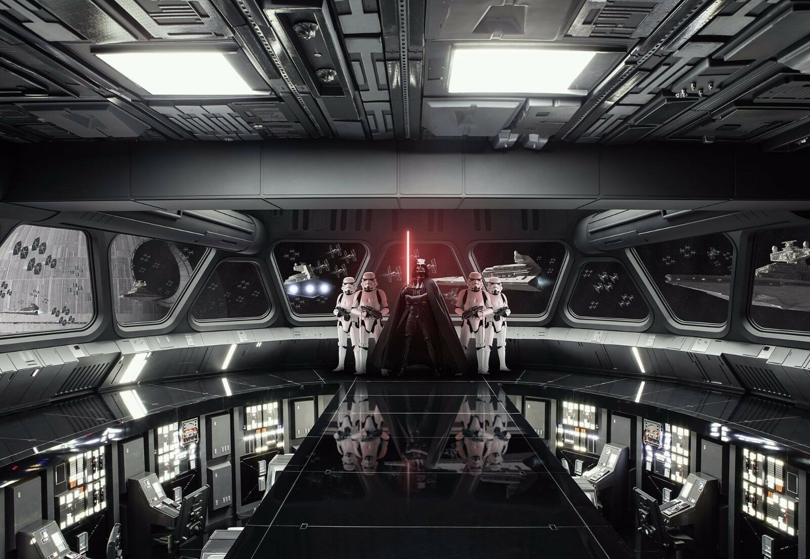 Giant Wallpaper 368x254cm STAR WARS Destroyer Deck For Childrens Room Wall Mural 1 Of 2Only 3 Available
