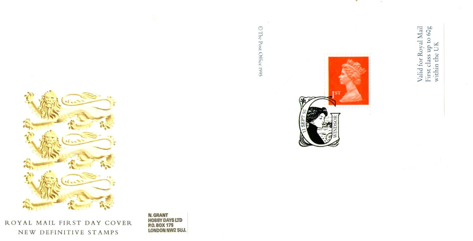 11 september 1995 greetings card label royal mail first day cover 1 di 1 vedi altro m4hsunfo