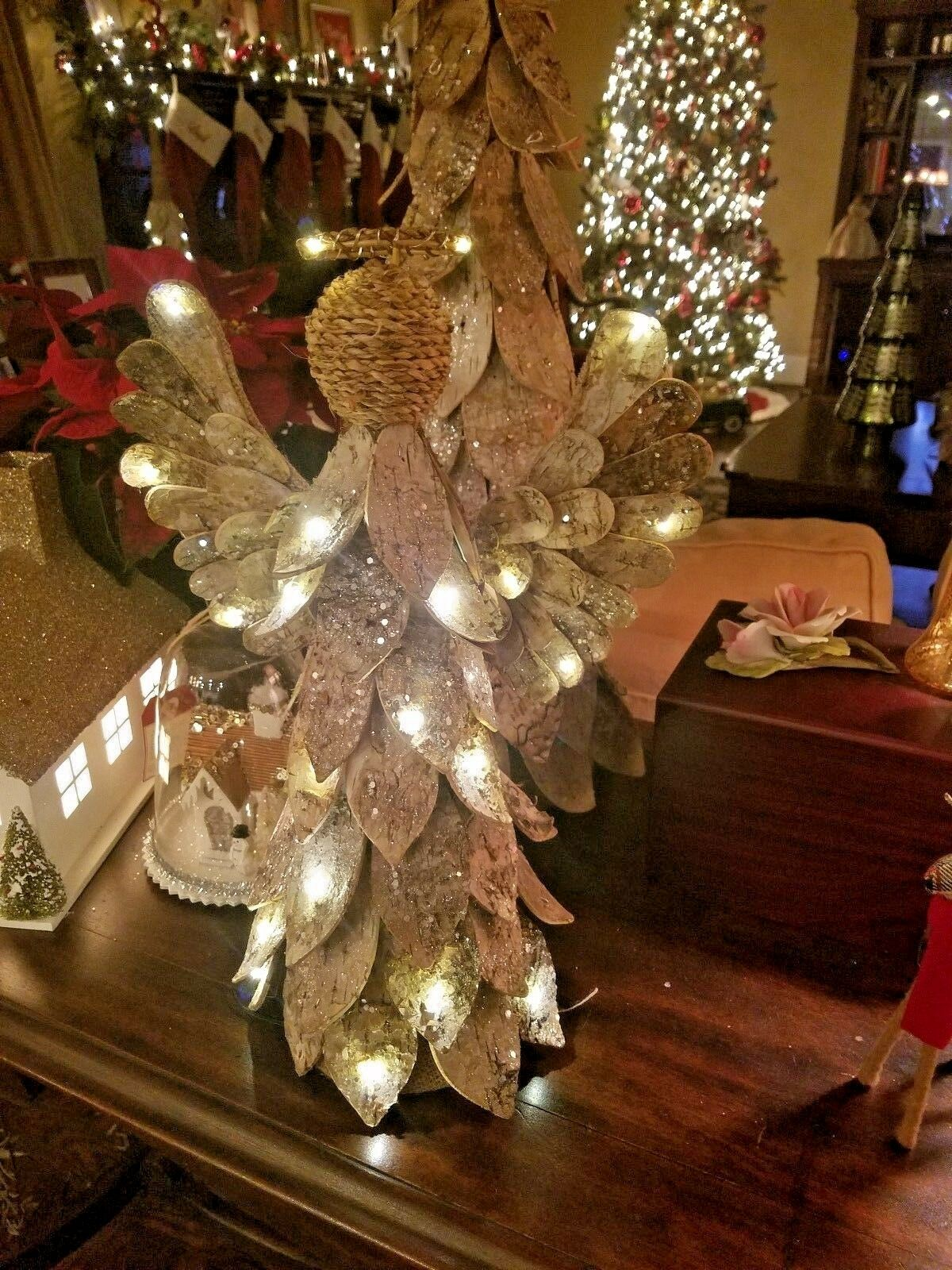 pottery barn lighted birch angel christmas tree topper with box 1 of 3only 2 available