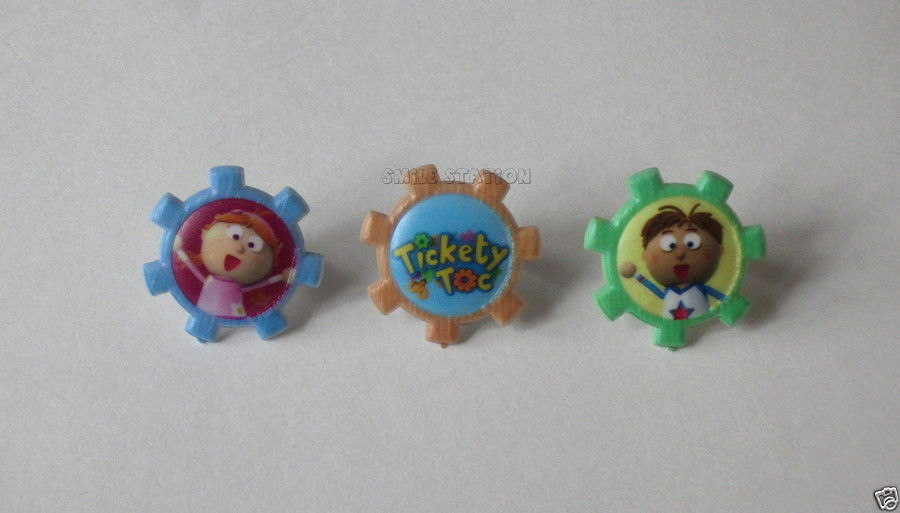 12 Tickety Toc Cup Cake Rings Topper Kid Party Goody Bag Filler