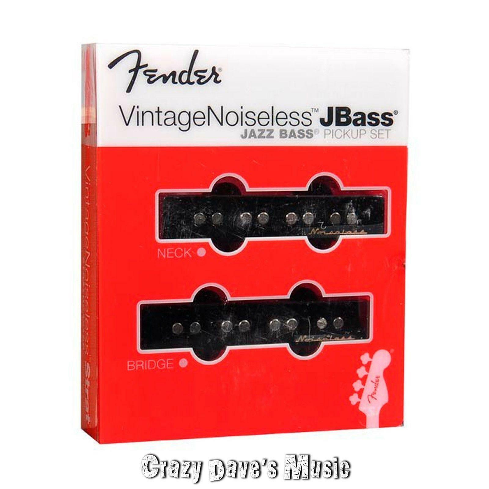 Fender Vintage Noiseless Jazz Bass Pickup Set Bridge Neck J Pickups New 11899 Noise Less Wiring Diagram 1 Of 1only 2 Available