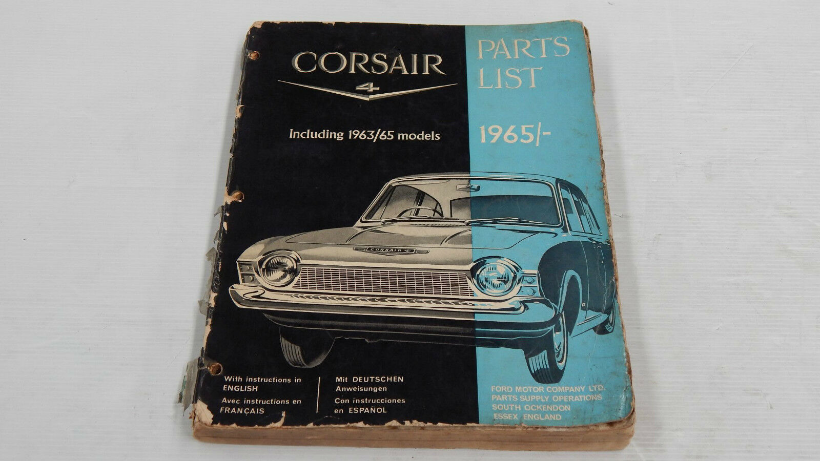 Ford Corsair V4 1963 1965 Parts List Book Original Genuine Wiring Diagram Mercury Meteor 1 Of 12only Available