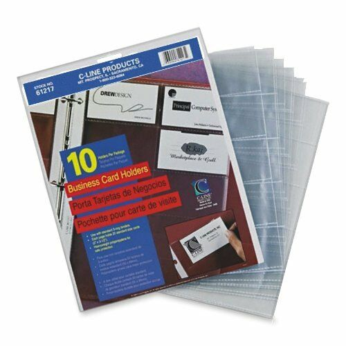 40 sheets business card holder binder pages clear sleeves refill 40 sheets business card holder binder pages clear sleeves refill organizer book 1 of 4free shipping colourmoves