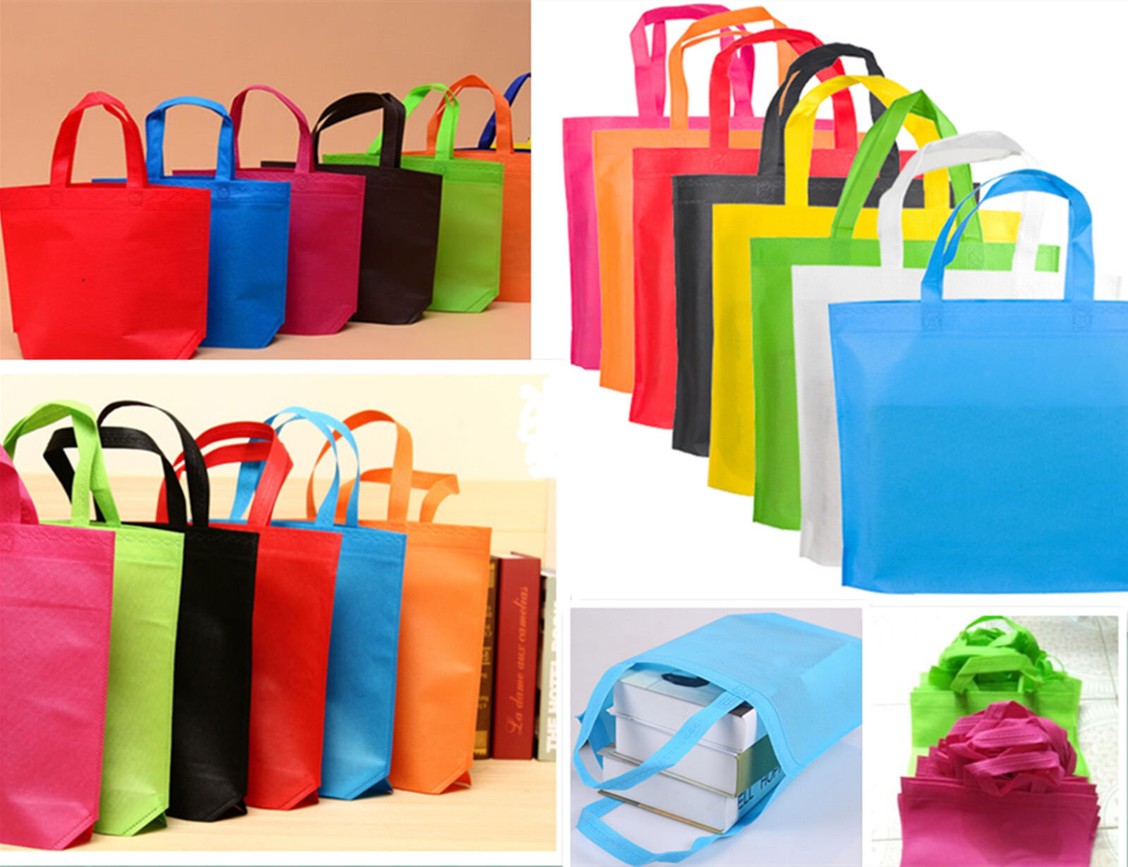 Folding Non Woven Eco Shopping Bag Storage Grocery Reusable Tote Wholesale  AAAAA 1 Of 5FREE Shipping See More