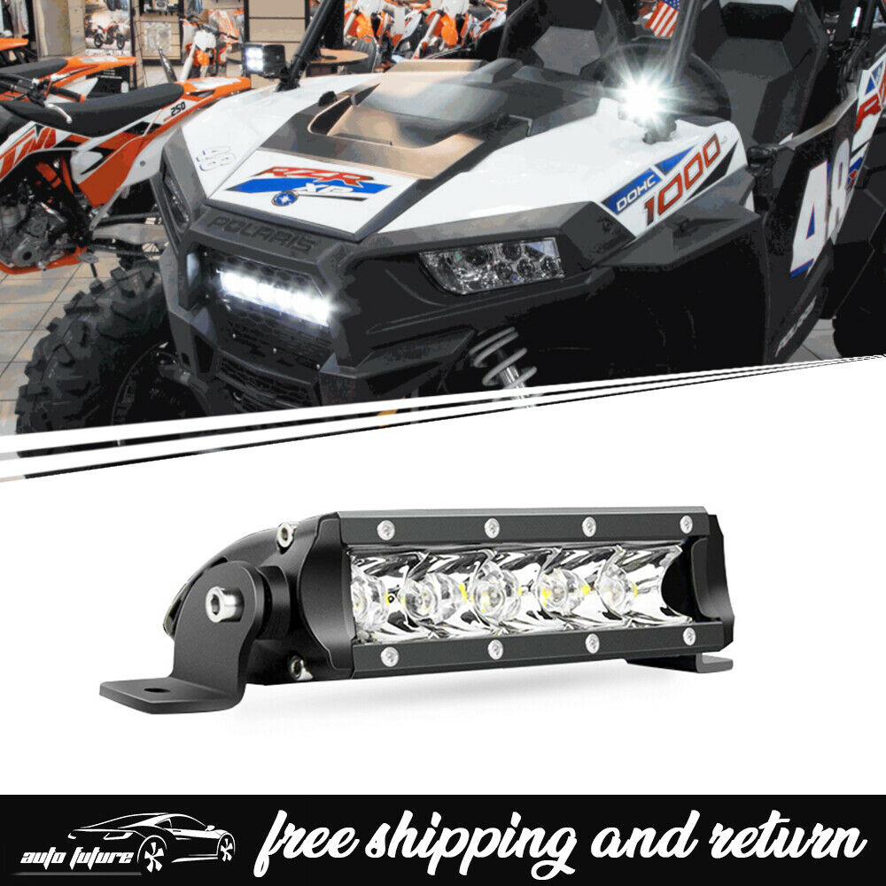 6inch spot led light bar front bumper super bright for polaris off 1 of 7free shipping aloadofball Choice Image