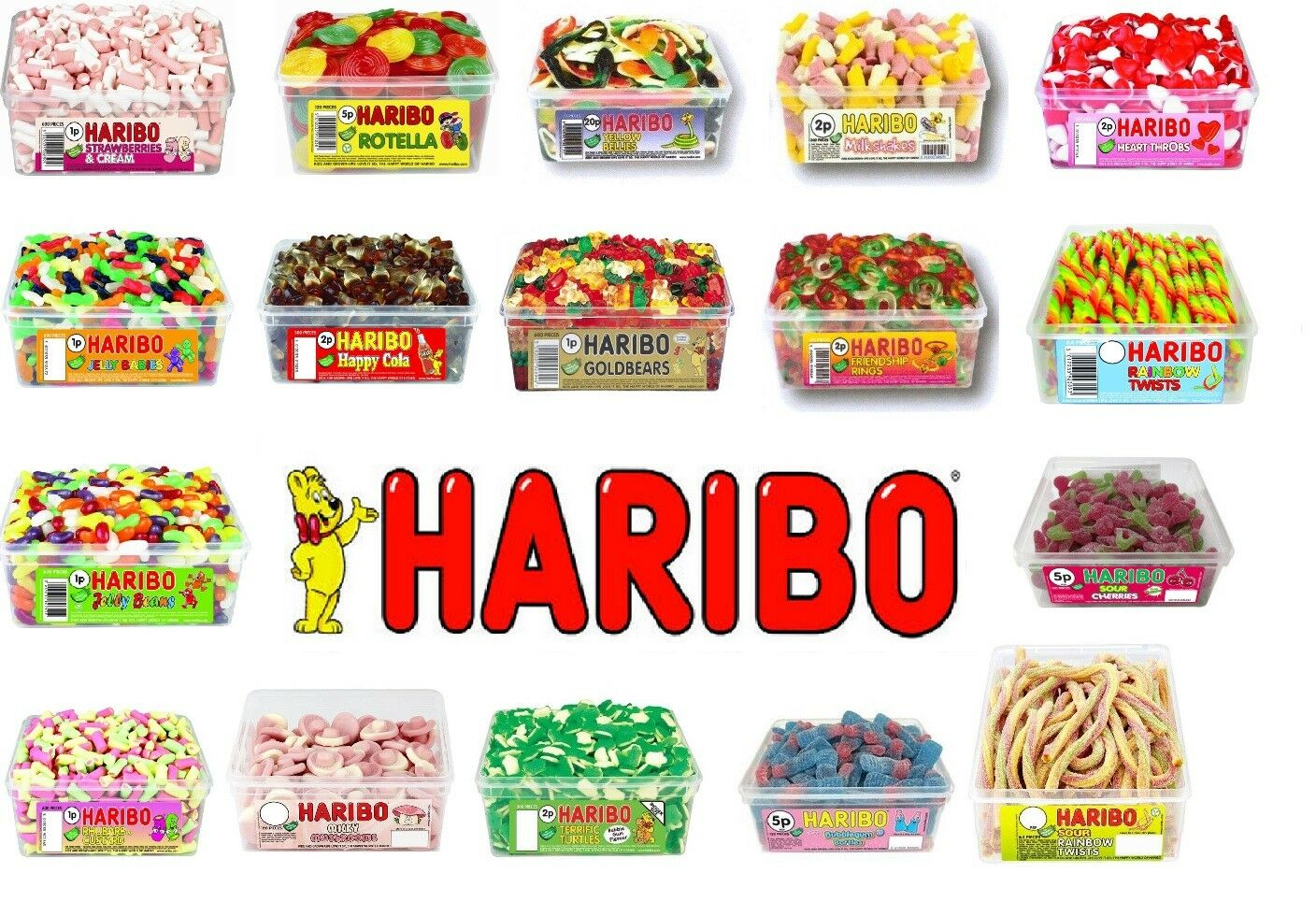 1 OR 2 Tubs Of Haribo Sweets Wholesale Discount Favours Treats Party ...