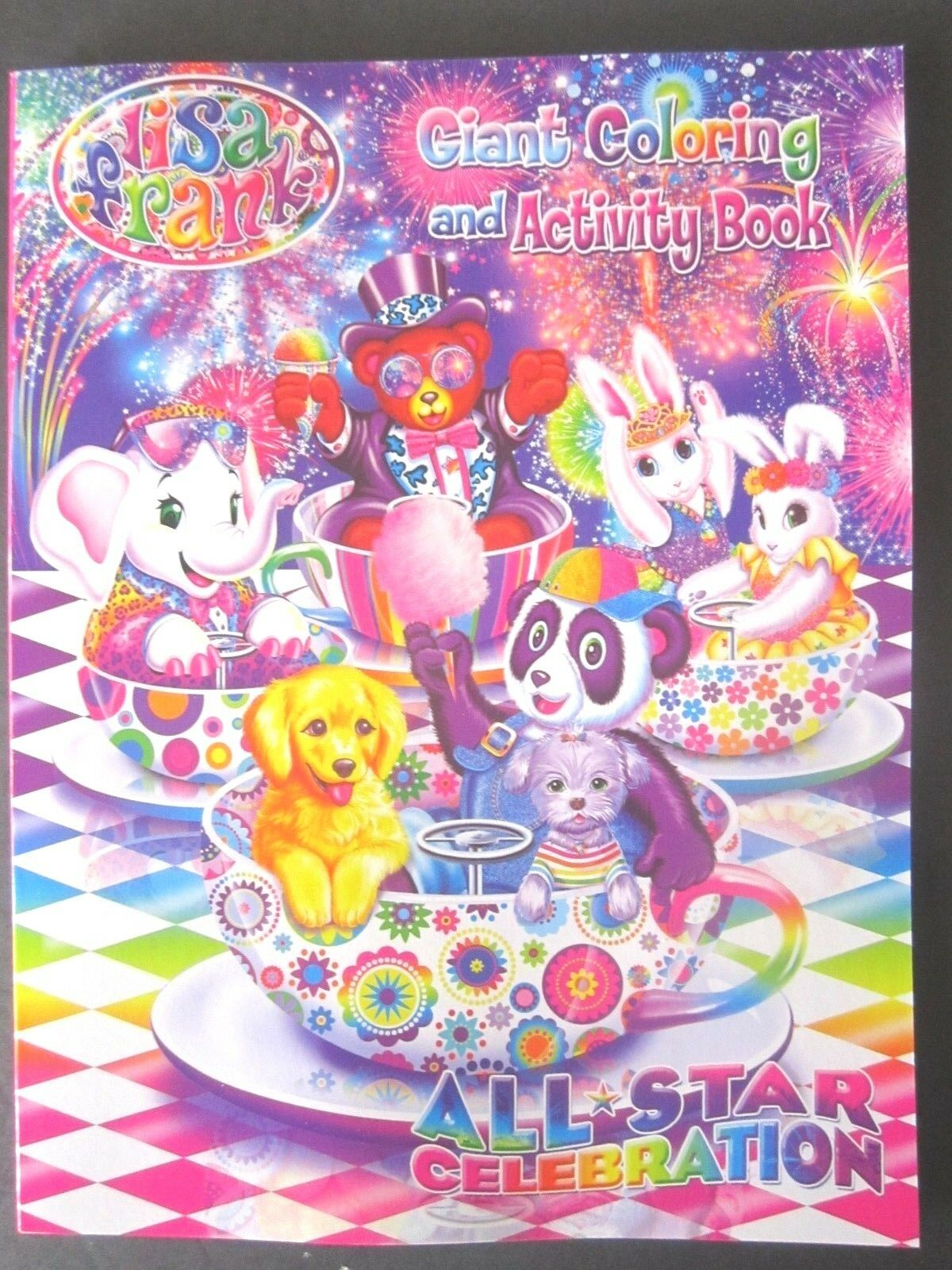 Lisa Frank Giant Fun Coloring Activity Book All Star Celebration Sticker Books My Big And Mighty 1 Of 5only Available