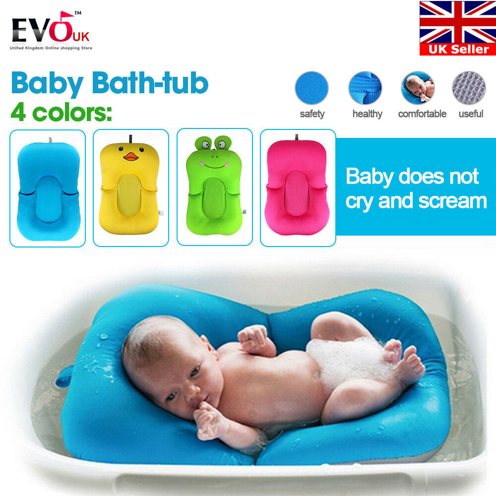 BATH BABY PAD Seat Newborn Toddler Soft Safety Security Support Mat ...