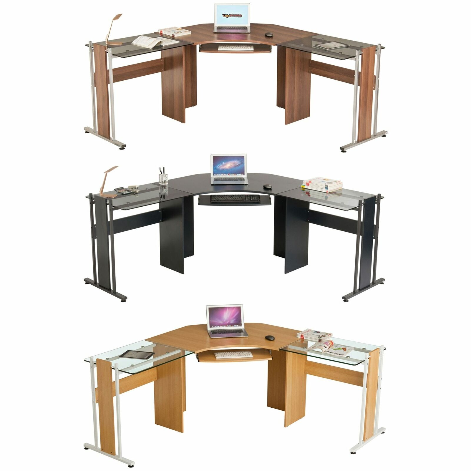 Large Corner Computer Desk For Home Office Gamers L Shaped Piranha Furniture 1 Of 2free