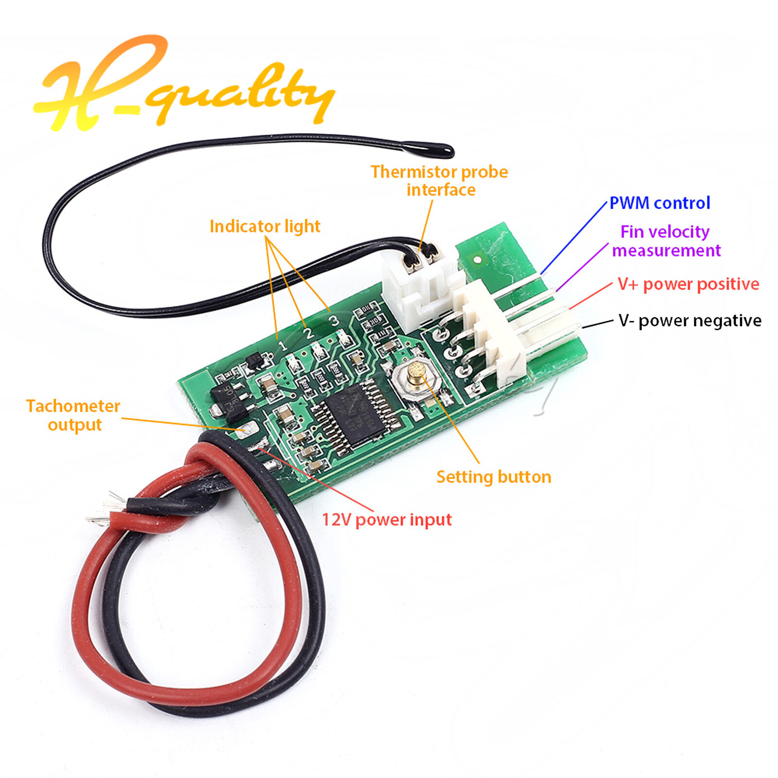 Dc12v Pwm 4 Wire Fan Temperature Speed Controller With Foxconn 12v Diagram 1 Of 7only 5 Available