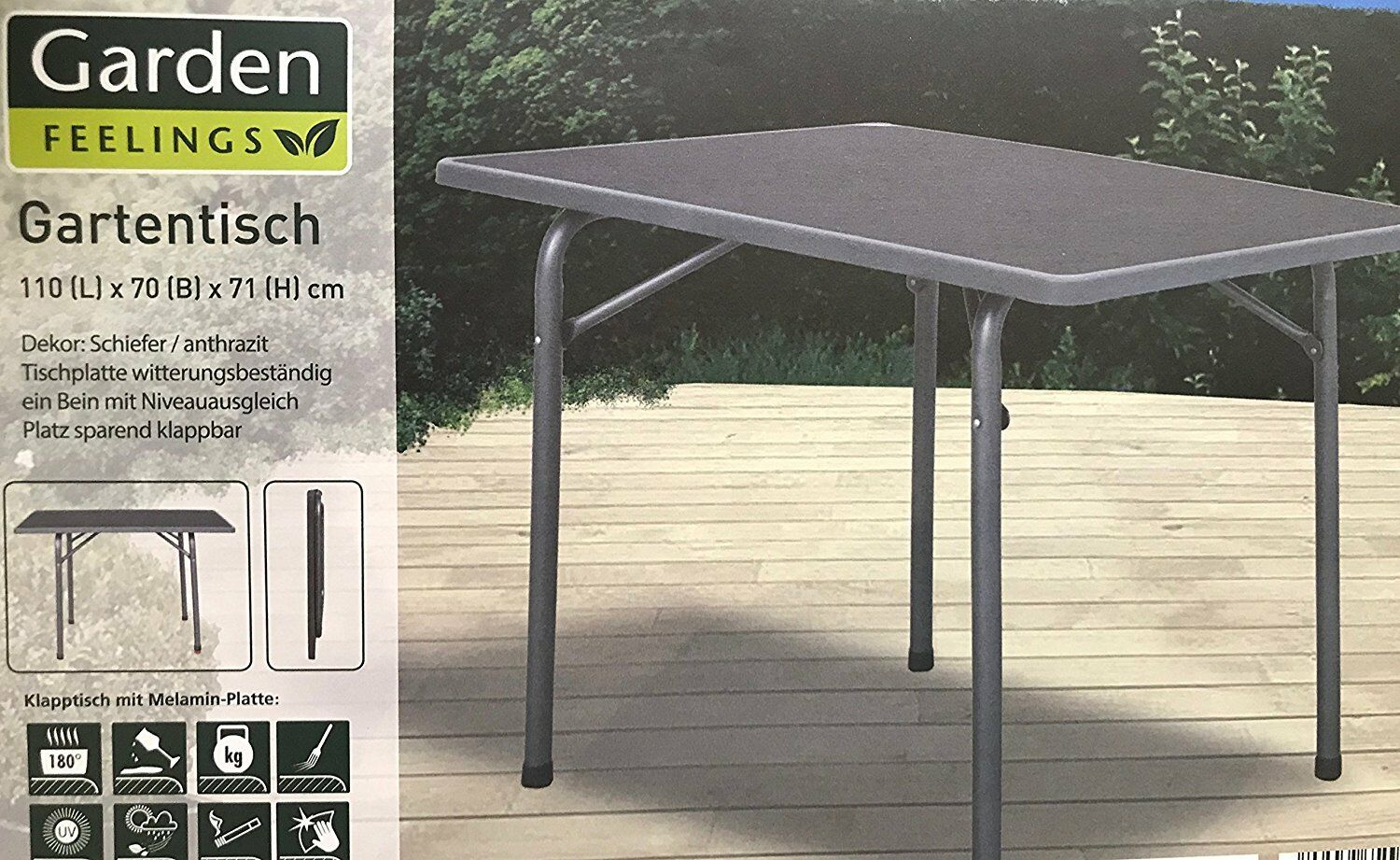 garden feelings klapptisch campingtisch tisch 110 x 71 x 70 cm eur 67 23 picclick fr. Black Bedroom Furniture Sets. Home Design Ideas