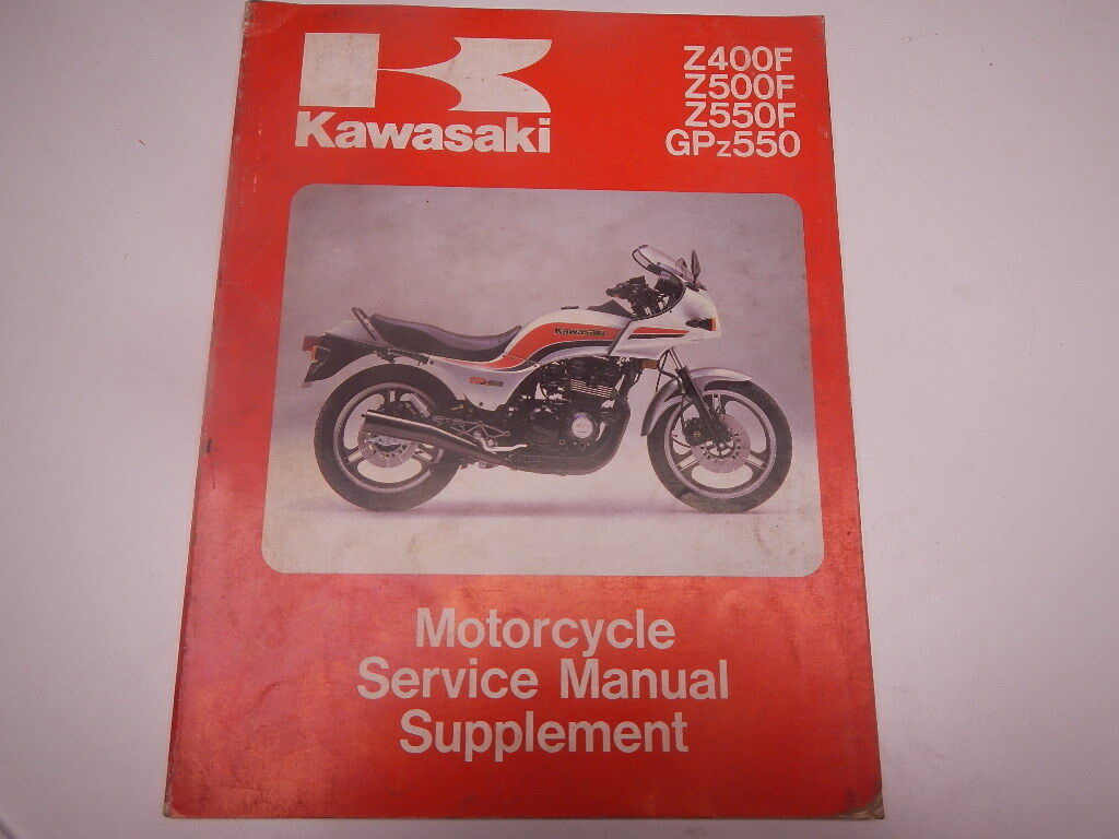 1983-1984 Kawasaki Z400F Z500F Z550F GPZ550 Service Manual Supplement ZR400  1 of 8Only 1 available ...