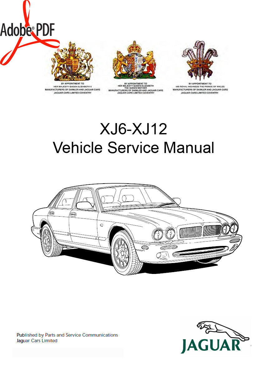 1994-1997 Jaguar Xj6 Xj12 Xjr Workshop Manual Plus Elec. Wiring + Parts  Manuals 1 of 9FREE Shipping ...