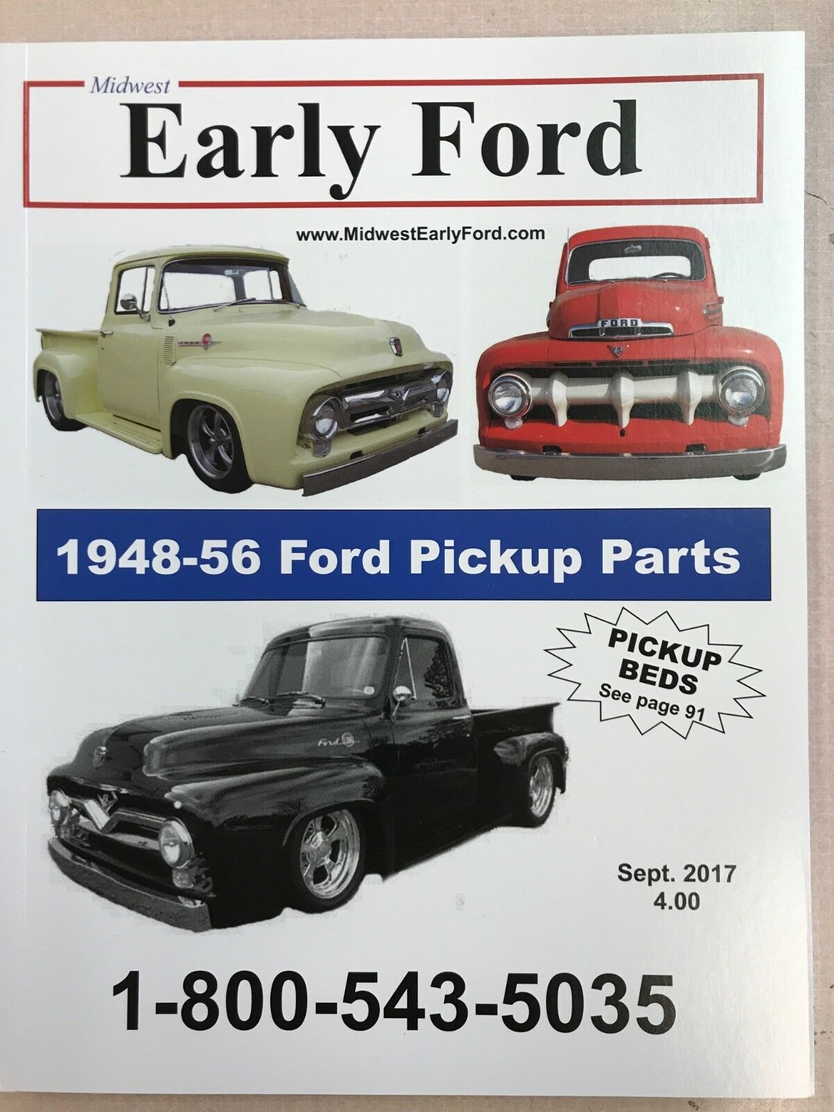 1948 1956 Ford Pickup Truck Parts Catalog Fenders Beds Bumpers 1949 F1 1 Of 1free Shipping