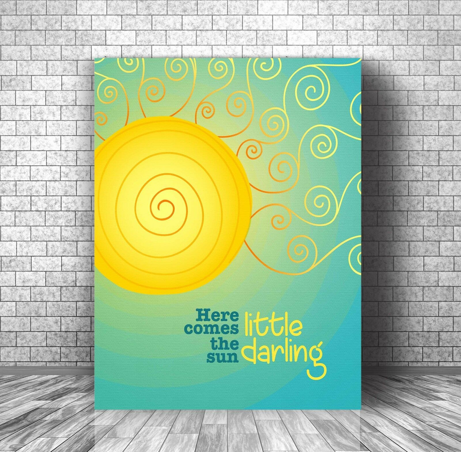 HERE COMES THE SUN • Beatles • SONG LYRIC MUSIC WALL ART • Canvas OR ...