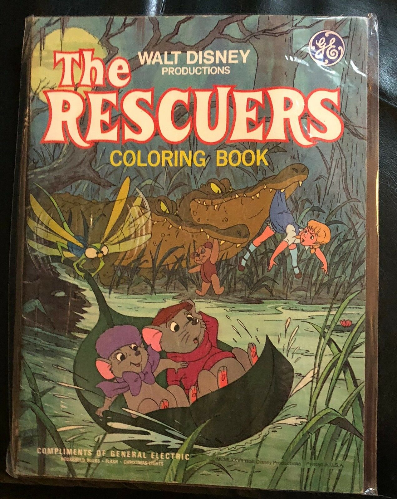 VINTAGE DISNEY\'S THE RESCUERS Coloring Book General Electric Promo ...