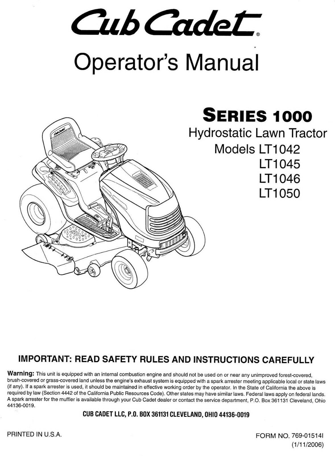 cub cadet model 1050 manual enthusiast wiring diagrams u2022 rh rasalibre co cub cadet 1340 service manual cub cadet 1430 service manual